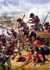 "Scottish regiment ""Black Watch"" fighting at the Battle of Corunna, Galicia"