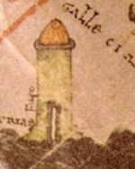 'The Lighthouse of Gallaecia', Burgo de Osma Codex, 1086 AD