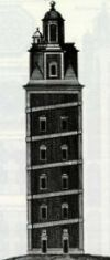 The lighthouse, repaired in 1791