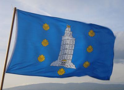 Flag of County Corunna, Galicia