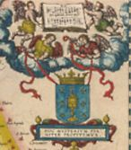 Holy Grail in Map 'Gallaecia Regnum', by Ortelius, 17th century