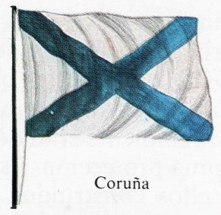 The Cross of St Andrew, origin of the modern national Galician flag