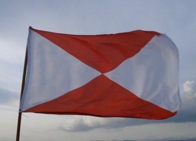 Flag of Vigo, County Vigo, Galicia