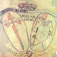 The Cross of St James of Compostela on the banner of the Galician Battalion during the War against France in 1808